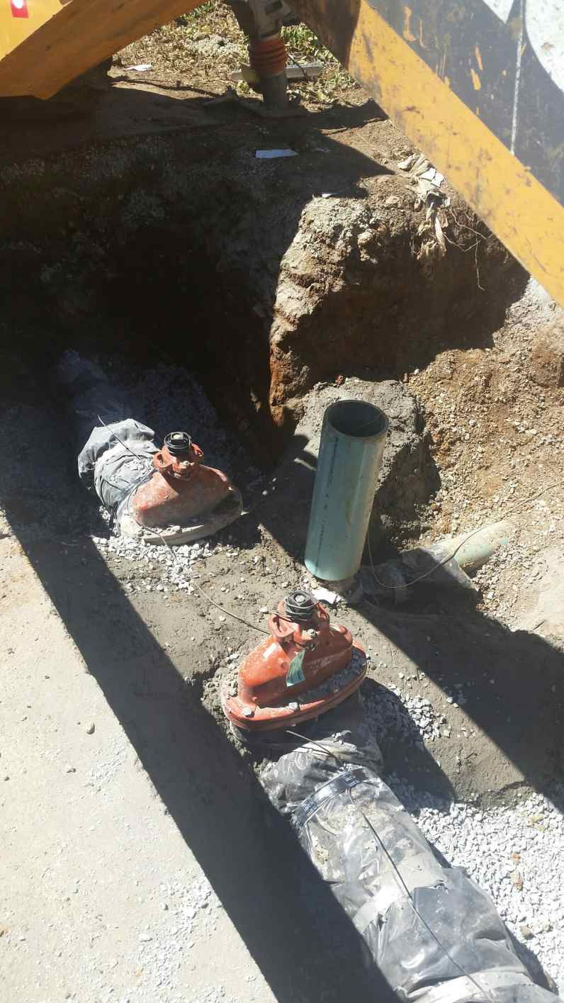 Water line tie-in completed successfully by CCWD & T&S Construction.