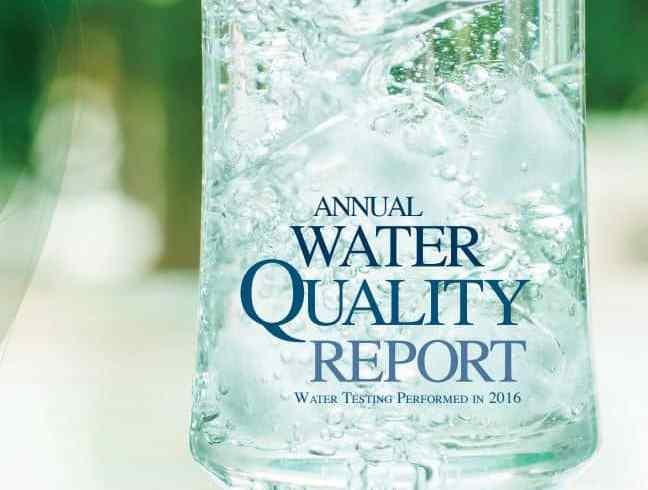 CCWD's 2016 Water Quality Report Cover