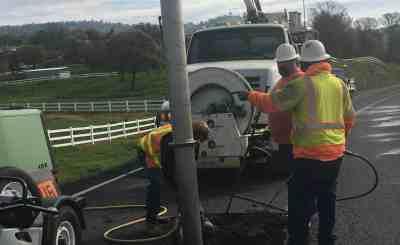 CCWD crews repair a leak in Copperopolis.