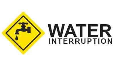 Water Interruption Sign