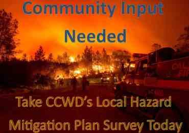 CCWD Seeks Community Input, Releases Hazard Mitigation Survey