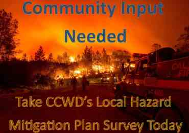 CCWD Seeks Community Input, Releases Hazard Mitigation Survey