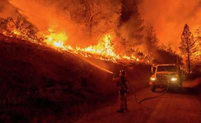 The Butte Fire burns near San Andreas.