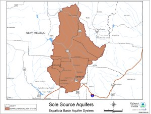 Sole Source Aquifers in the Espanola basin Aquifer System