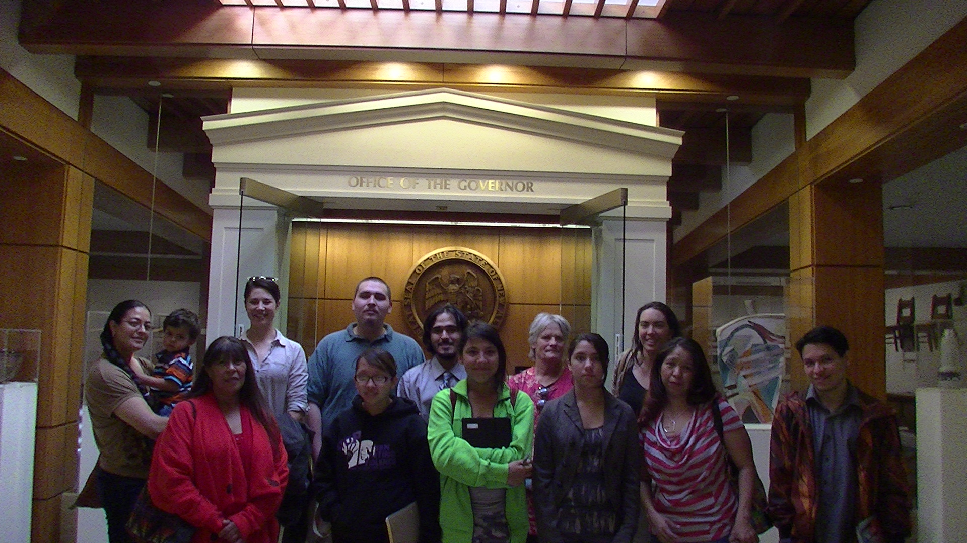 CCW Youth Council visits the State Capitol in Santa Fe
