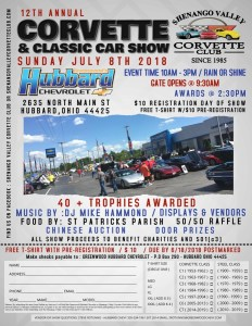 NON-CCWP - SVCC - 12th Annual Corvette & Classic Car Show @ Hubbard Chevrolet | Hubbard | Ohio | United States