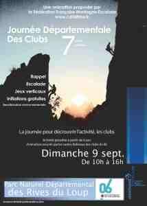 Journée Départementale des Clubs – Initiation Escalade dans les Rives du Loup –