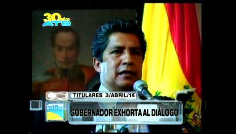 Titulares: Gobernador de Cochabamba exhortó al diálogo, afirma que mineros afectan intereses