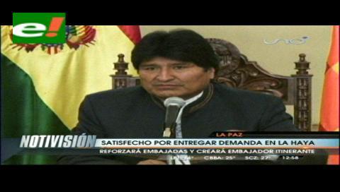 Evo opina que si Chile busca la incompetencia de La Haya es porque ya se siente perdedor