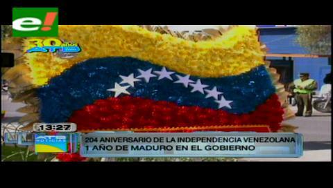 Conmemoran 204 años de la revolución venezolana en La Paz, pero se evita hablar de crisis