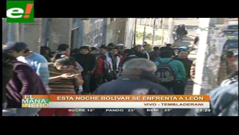 La entrada más barata para ver a Bolívar con León cuesta 60 Bs