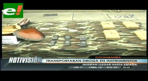 FELCN desarticula banda que enviaba droga a España camuflada en instrumentos musicales