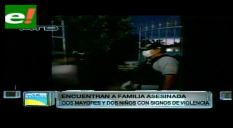 Hallan muertos a cuatro integrantes de una familia en El Torno