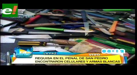 Secuestran bebidas, celulares y armas blancas en el penal de San Pedro