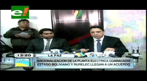 Gobierno compensará a Rurelec con $us 31,5 millones por sus acciones en Guaracachi