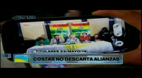 Titulares: Costas visita La Paz y no descarta alianzas