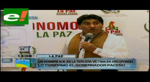 Arcopongo: Cocarico confirma tres decesos y dice que disputa entre Comibol y la AJAM dilata el conflicto