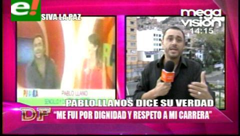 "Pablo Llano: ""Me fui muy triste de Pura Vida"""