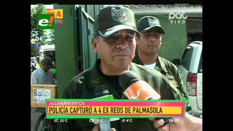 Operativos: Felcc detiene a 4 ex reclusos de Palmasola