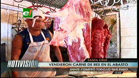 Carniceros deciden levantar paro y retornan a sus puestos de venta