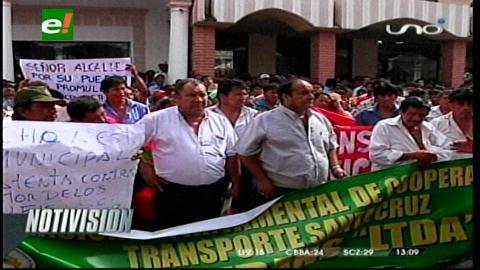 Choferes del transporte libre amenazan con cercar Santa Cruz