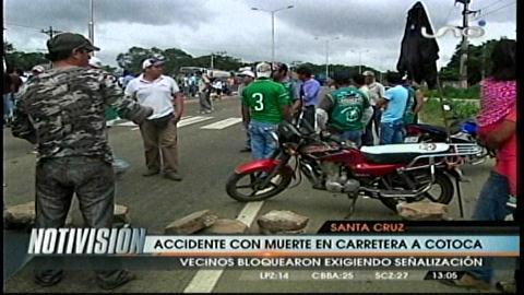 Dos muertos y dos menores heridos en la carretera a Cotoca