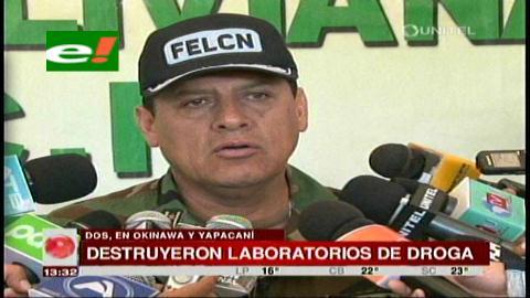 Santa Cruz: Felcn secuestra 104 kilos de cocaína en siete operativos