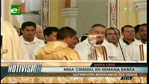 Misa Crismal: La Iglesia tiene más de 1.000 sacerdotes para servir al pueblo