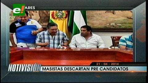 Titulares: MAS descarta postular a líderes cruceños como pre candidatos a las elecciones