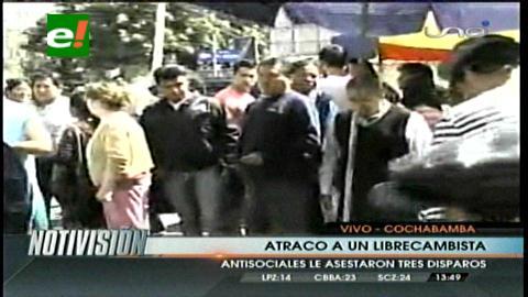 Cochabamba: Delincuentes atracan a librecambista en pleno centro de la ciudad