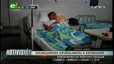 Un estudiante sobrevive al ataque feroz de asaltantes