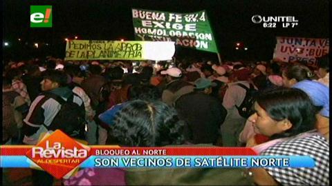 Warnes: La ruta al norte cruceño está bloqueada por protesta de vecinos