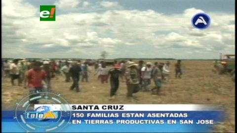 San José de Chiquitos: 150 familias están asentadas en tierras productivas