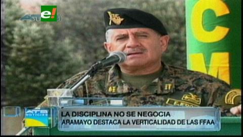 General Aramayo: La disciplina no se negocia en las FFAA