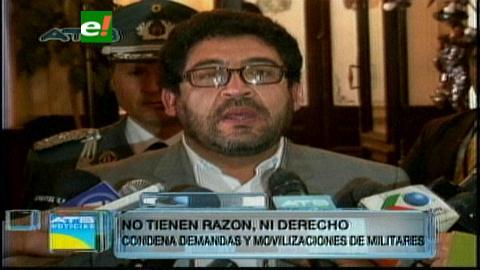 Diputado Elío considera peligrosa la movilización de los suboficiales