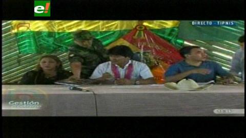 Presidente inicia reunión con indígenas del Beni