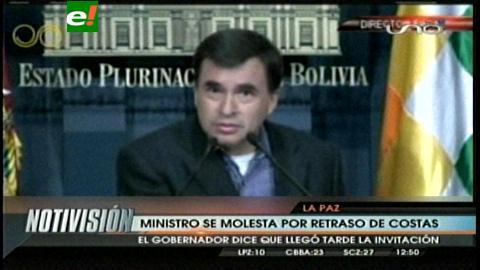 Gobernador de Santa Cruz excluido de reunión con Evo; Quintana dice niño mimado a Costas