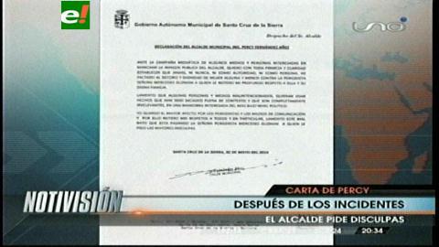 Percy Fernández se disculpa con mujer periodista pero no asume su error