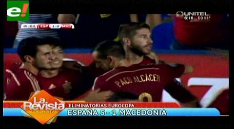 España vs. Macedonia: la Roja goleó 5-1 en inicio de Eliminatorias a la Eurocopa 2016