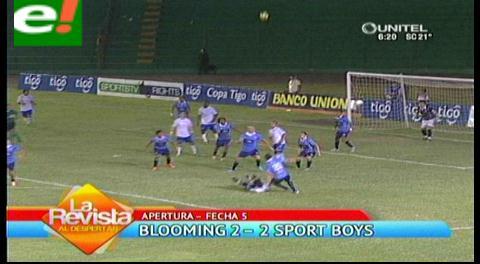 Blooming empata a Sport Boys gracias a un doblete de Almirón