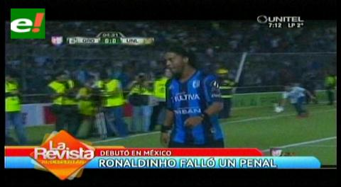 Ronaldihno debuta en México fallando un penalti