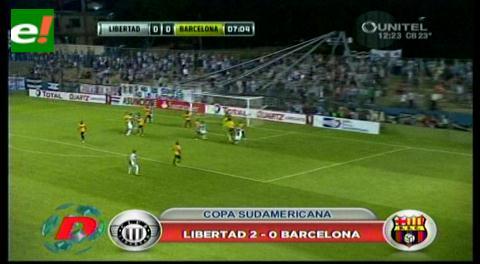 Copa Sudamericana: Libertad de Paraguay eliminó al Barcelona de Guayaquil