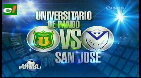 San José le gana a Universitario de Pando