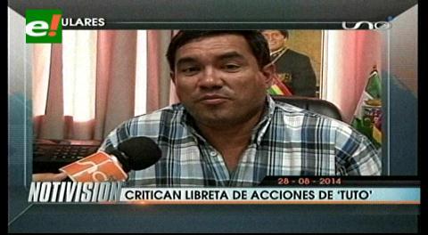 Titulares:  El MAS crítica libreta de acciones propuesta por Tuto Quiroga