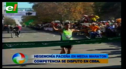 Eduardo Aruquipa gana la media maratón de Comteco