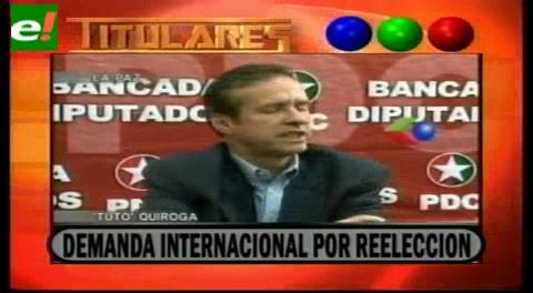 Titulares de TV: Tuto Quiroga anuncia demanda internacional por reelección