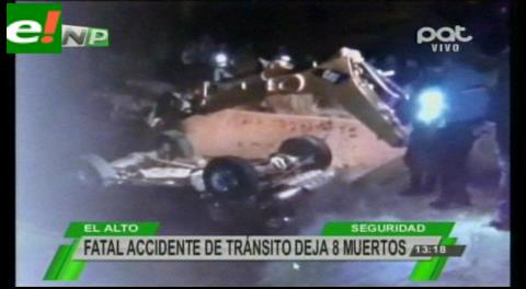 La Paz. Embarrancamiento de una vagoneta en Tiahuanaco deja 8 muertos y 4 heridos