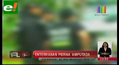Policías detienen a varias personas enterrando una pierna humana