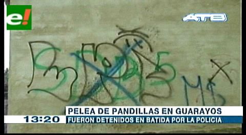 Pelea de pandillas en Guarayos