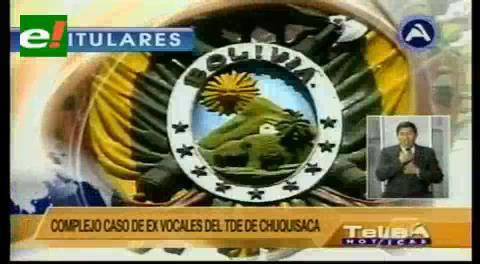 Titulares de TV: TSE presentará queja formal ante el TCP en contra del Tribunal de Garantías de Chuquisaca por validar infracciones cometidas por ex vocales